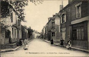 Ak Marchenoir Loir et Cher, La Grande Rue, Centre du Bourg
