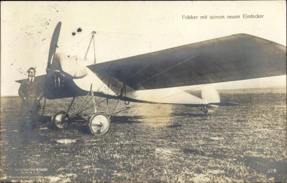 Ak Fokker mit seinem neuen Eindecker, Sanke 329