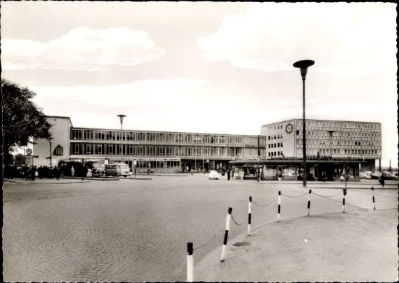 Ak Kassel in Hessen, Hauptbahnhof, Außenansicht