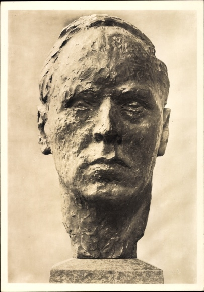Ak Plastik von Georg Kolbe, Selbstbildnis 1925