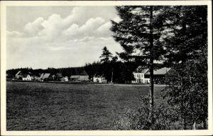 Ak Gelobtland Marienberg im Erzgebirge Sachsen, Blick vom Feld auf die Ortschaft
