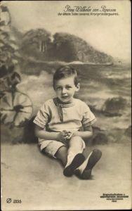 Ak Prinz Wilhelm von Preußen, ältester Sohn von Kronprinz Wilhelm von Preußen