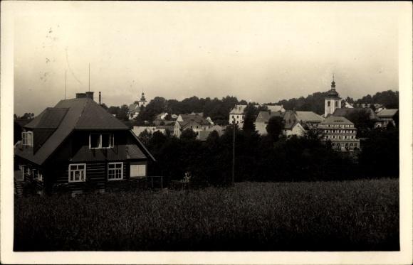 Ak Rokytnice v Orlických horách Rokitnitz Adlergebirge Reg. Königgrätz, Teilansicht der Stadt