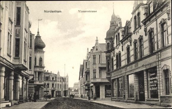 Ak Nordenham im Oldenburger Land, Partie an der Vinnenstraßem, Geschäft, Inh. Friedrich W. Schröder