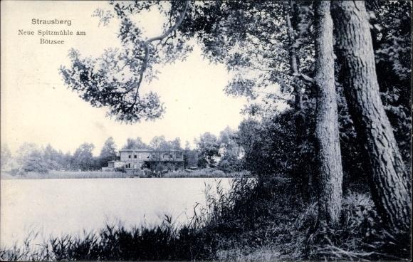 Ak Strausberg im Kreis Märkisch Oderland, Neue Spitzmühle am Bötzsee