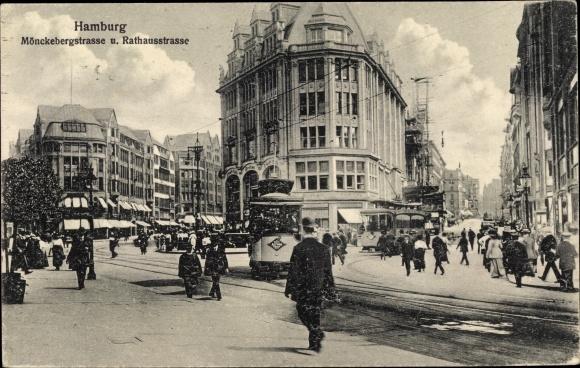 Hifi Hamburg Mönckebergstraße ansichtskarte altstadt hamburg mönckebergstraße 1915 nr 120851