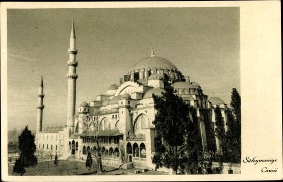 Ak Konstantinopel Istanbul Türkei, Süleymaniye, Camii