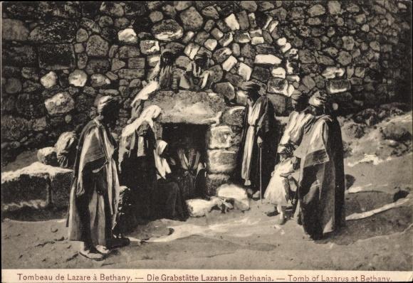 Ak Bethanien Palästina, Tombeau de Lazare, Die Grabstätte Lazarus, Tomb of Lazarus