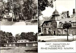 Ak Rheinsberg in Brandenburg, Blick auf das Diät Sanatorium Hohenelse