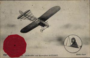 Ak Leblanc sur Monoplan Blériot, Pilot, Flugpionier