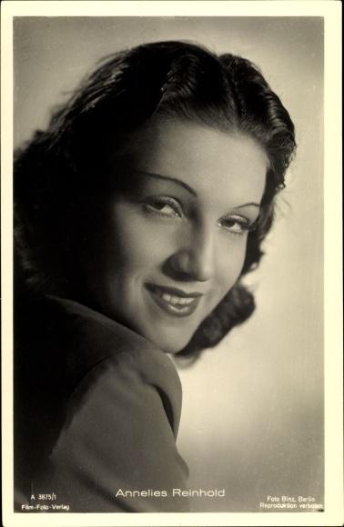 Ak Schauspielerin Annelies Reinhold, Portrait, Foto Binz, A 3875/1
