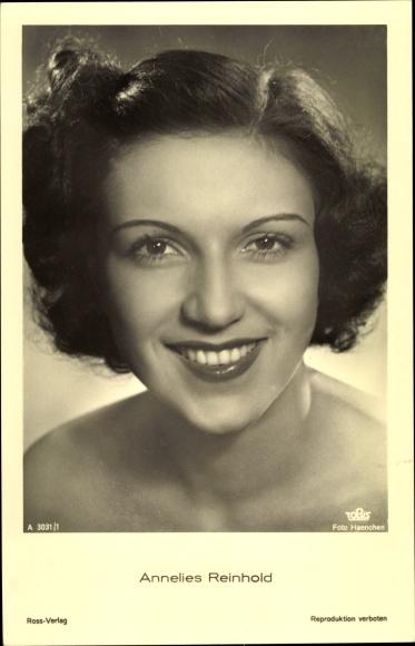 Ak Schauspielerin Annelies Reinhold, Portrait, Ross Verlag A 3031/1
