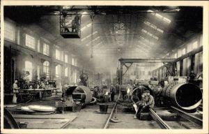 Ak Couillet Wallonien Hennegau, Metaalfabrieken van Henegouwen, Koperslagerij