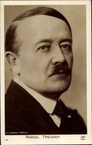 Ak Marcel Prévost, Romanautor, Dramatiker, Portrait