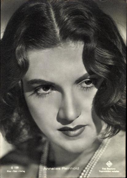 Ak Schauspielerin Annelies Reinhold, Portrait, UFA Film, G 159