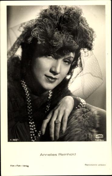 Ak Schauspielerin Annelies Reinhold, Portrait, Bavaria Film A 3662/1