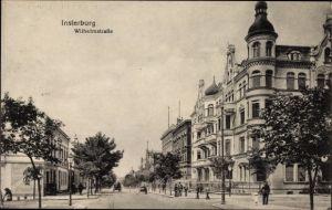 Ak Tschernjachowsk Insterburg Ostpreußen, Wilhelmstraße, Straßenpartie