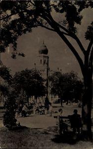 Ak Kecskemét Ketschkemet Ungarn, Föter reszlet, Blick auf Kirche