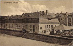 Ak Meißen in Sachsen, Blick auf die Polizeischule, Wirtschaftsgebäude