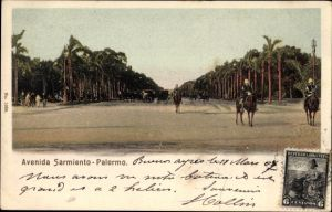 Ak Palermo Buenos Aires Argentinien, Avenida Sarmiento, Straßenansicht