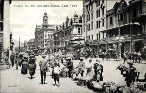 Ak Cape Town Kapstadt Südafrika, Adderley Street, Flower Sellers, Blümenverkäufer