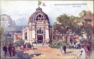 Künstler Ak Milano Mailand Lombardia, Esposizione 1906,Padiglione della Direzione Generale Privative