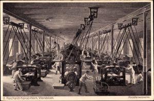 Künstler Ak Bollhagen, Otto, Wandsbek Hamburg, Reichardt Kakao Werk, Porzellanwalzwerke
