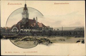 Ak Świnoujście Swinemünde Pommern, Blick auf das Conversationshaus
