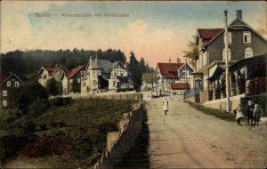Ak Ruhla in Westthüringen, Blick auf Knaudtstraße mit Waldstraße, Kinder