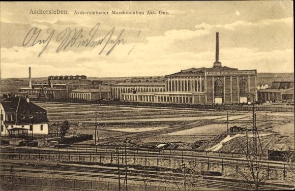 Ak Aschersleben im Salzlandkreis, Ascherslebener Maschinenbau AG