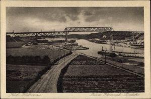 Ak Holtenau Kiel in Schleswig Holstein, Prinz Heinrich Brücke über den Kaiser Wilhelm Kanal