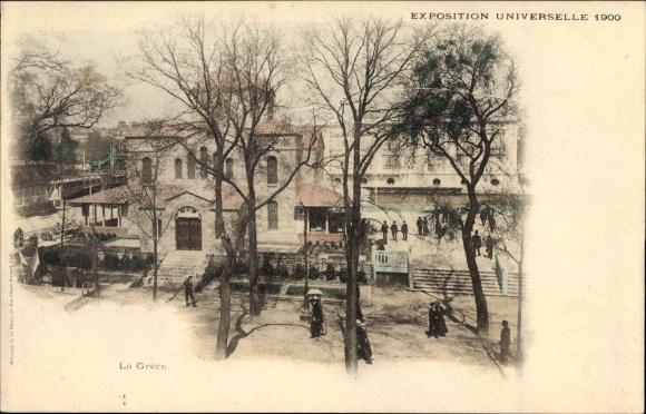 Ak Paris, Expo 1900, La Grèce, Griechischer Pavillon