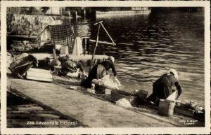Ak Kanton Tessin, Lavandaie ticinesi, Waschfrauen bei der Arbeit