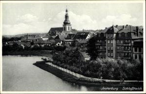 Ak Tschernjachowsk Insterburg Ostpreußen, Schlossteich