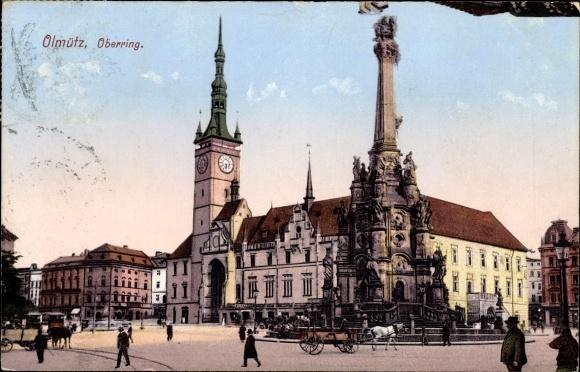 Ak Olomouc Olmütz Stadt, Blick auf den Oberring, Stadtansicht