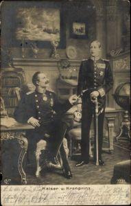 Künstler Ak Kaiser Wilhelm II., Kronprinz Wilhelm von Preußen