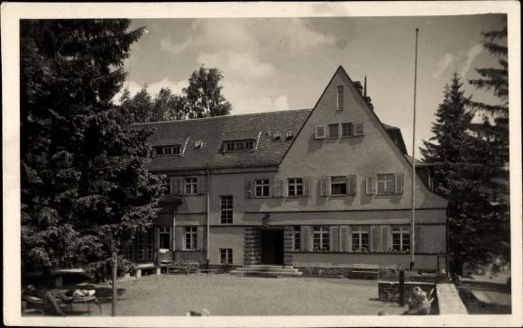 Ak Grünhain Beierfeld im Erzgebirge Sachsen, Genesungsheim Grünhain II der SVA Sachsen
