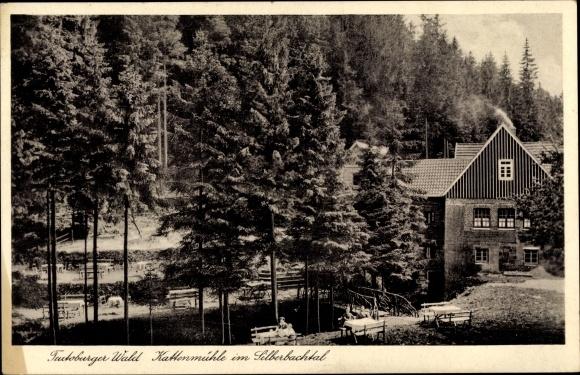 Ak Horn Bad Meinberg im Kreis Lippe, Waldgaststätte Kattenmühle, Bes. A. Senger