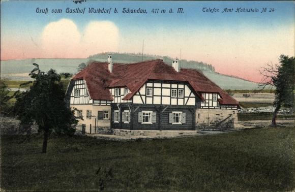 Ak Waitzdorf Hohnstein in der Sächsischen Schweiz, Gasthof Nr ...