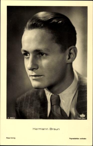 Ak Schauspieler Hermann Braun, Portrait, Ross Verlag A 3281/1