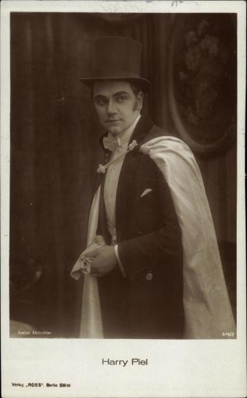 Ak Schauspieler Harry Piel, Portrait, Ross Verlag 414 2