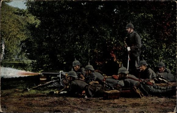 Ak Das Deutsche Heer, Maschinengewehr Kompanie im Gefecht