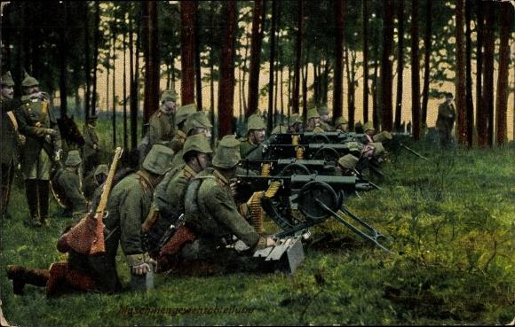Ak Deutsche Maschinengewehrabteilung, MG Schützen