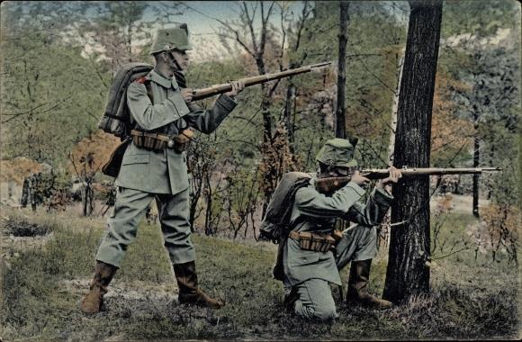 Ak 2. Kgl. Sächs. Jäger Bataillon Nr 13, Felduniform