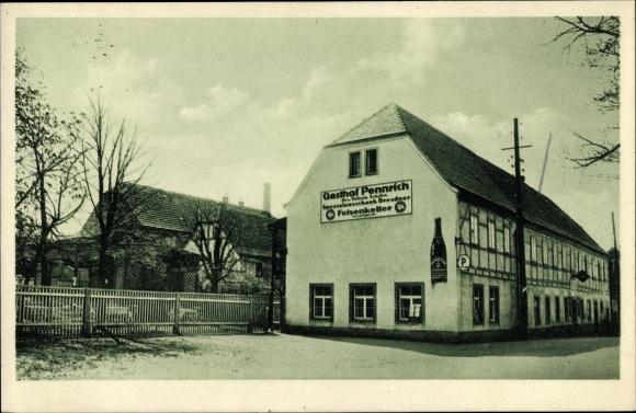 Ak Dresden Südwest Gompitz Pennrich, Gasthof Pennrich, Bes. Willy Schäfer