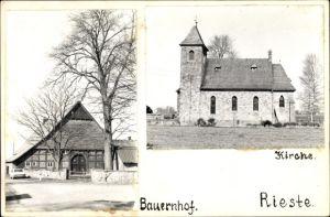 Foto Rieste Niedersachsen, Kirche, Bauernhof