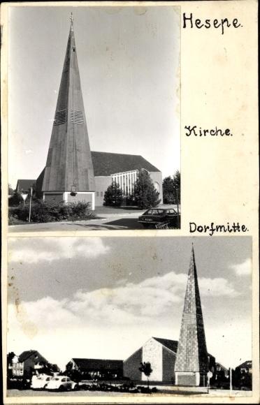 Foto Hesepe Bramsche in Niedersachsen, Kirche, Dorfmitte