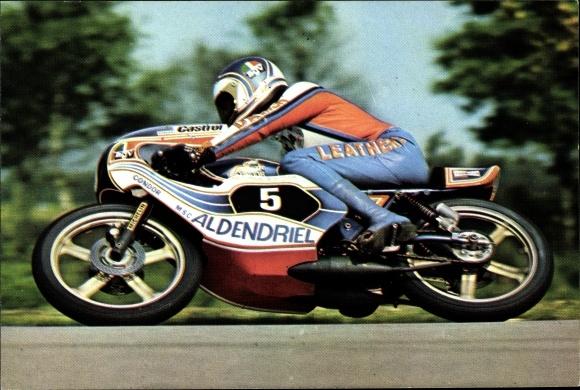Ak Rennfahrer Henk van Kessel auf dem Motorrad, Motorrennsport