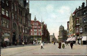 Ak Hannover in Niedersachsen, Georgstraße, Blick auf Langelaube und Nordmannstraße