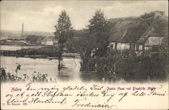 Ak Hobro Mariagerfjord Dänemark, Gamle Huse ved Blaakilde Molle